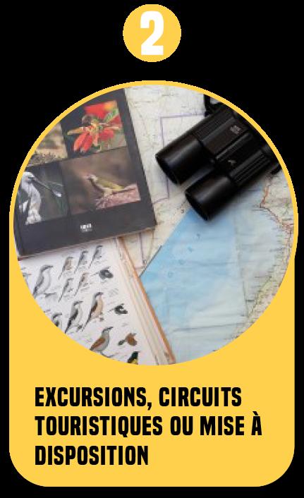 Excursions, circuits touristiques ou mise à disposition